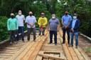 Presidente da Câmara de Sena Madureira acompanha Construção da Ponte no Rio Cassirian.